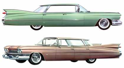 Cadillac four-window Sedan DeVille and Series 62 Sedan (1959)