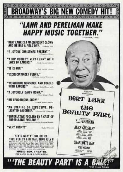"Bert Lahr In ""The Beauty Part"" Theatre Promo (1963)"