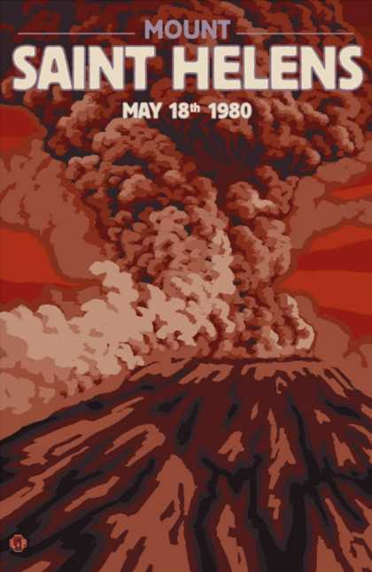 Mount St. Helens Eruption, Washington, May 18 (1980)