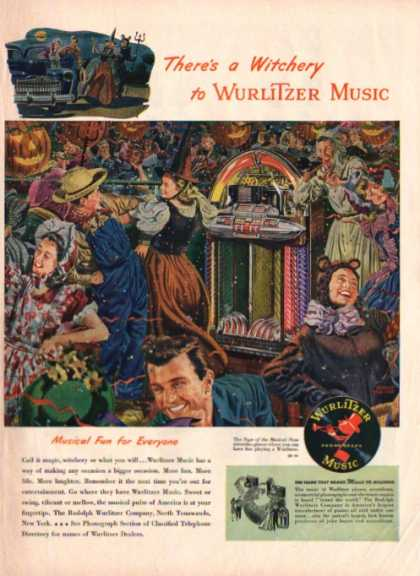 Wurlitzer Phonograph Music Jukebox Albert Dorne (1947)