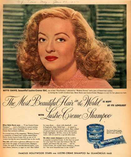 Kay Daumit's Lustre-Creme Shampoo – The Most Beautiful Hair in the World is kept at its loveliest with Lustre-Creme Shampoo (1951)
