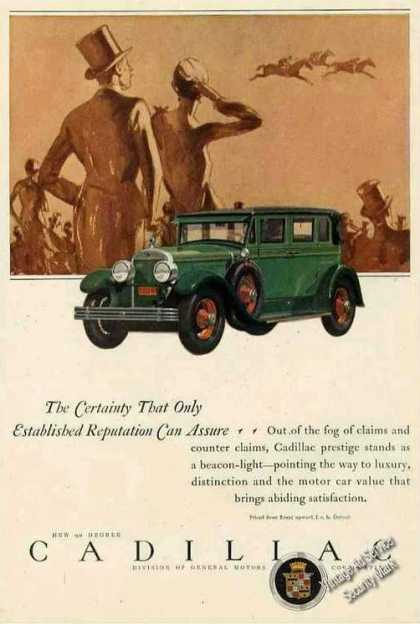 Cadillac Beautiful Horse Racing Theme Color Car (1927)