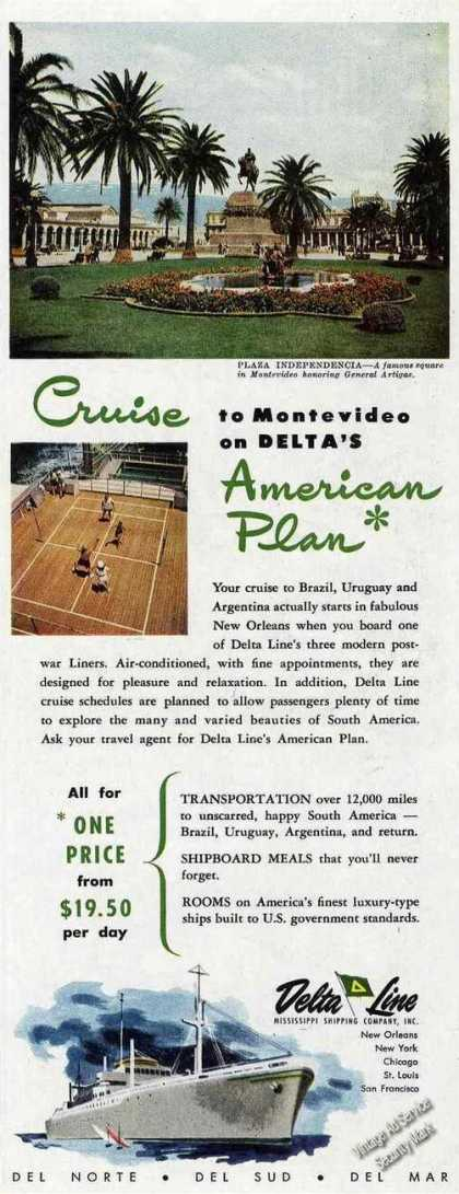 Plaza Independencia Montevideo Photo Delta Line (1950)
