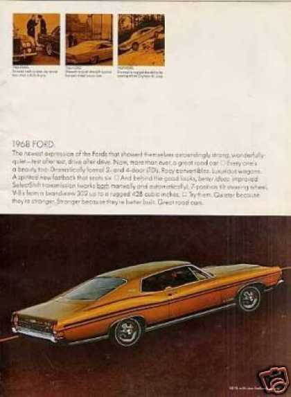 Ford Cars Ad 3 Page (1968)