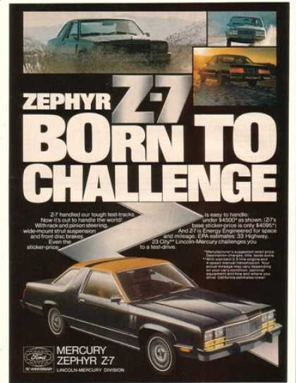 Mercury Zephyr Z-7 Born to Challenge (1978)