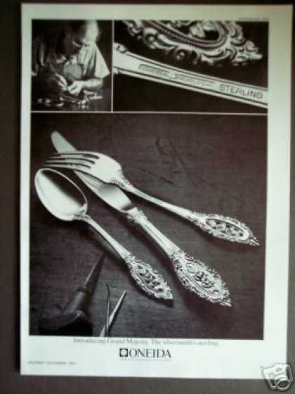 Oneida Grand Majesty Sterling Silver Photo (1976)