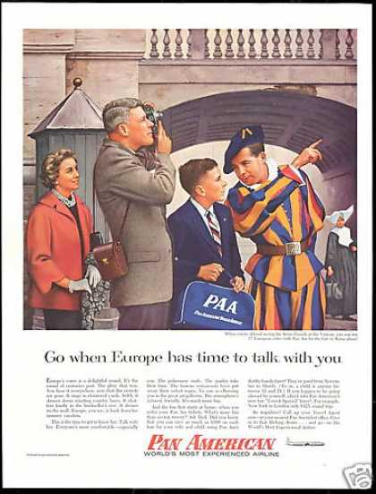 Pan American Am Airlines PAA Bag Swiss Guard (1956)