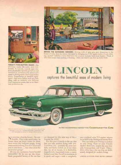 Lincoln Capri Car – Ease of Modern Living (1952)