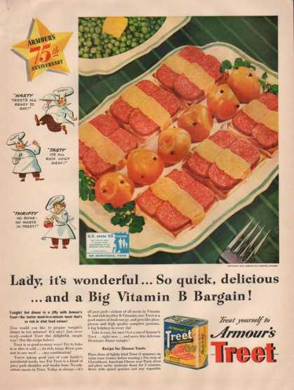 Armours Treet All Purpose Meat (1942)