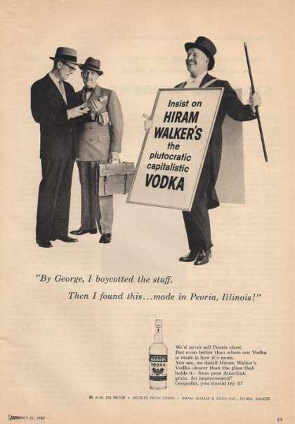 Hiram Walkers Vodka (1957)