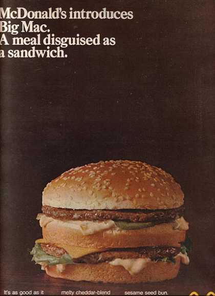 McDonald&#8217;s Big Mac (1969)