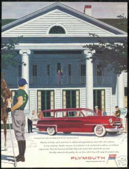 Plymouth Savoy Wagon NY Meadow Brook Polo Club (1953)