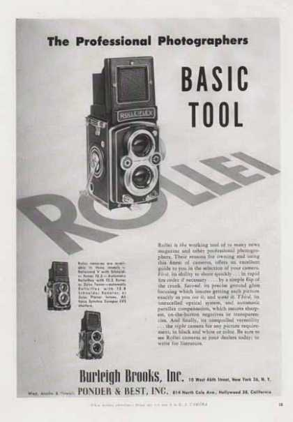 Rolleiflex Camera – Professional Photographers Basic Tool (1956)