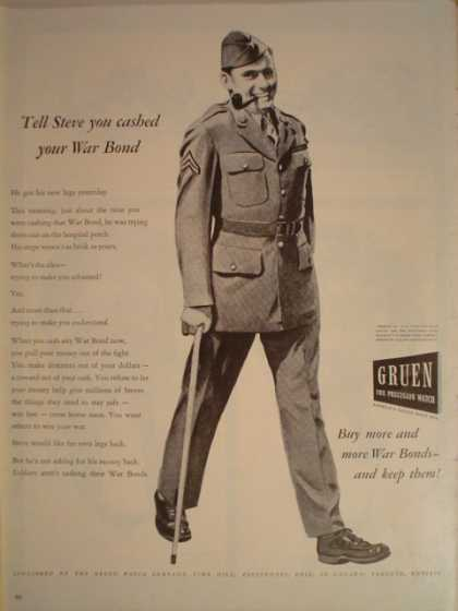 Gruen Watches Buy War Bonds (1944)