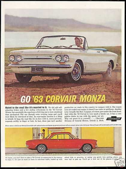 Chevrolet Corvair White Convertible Red Coupe (1963)