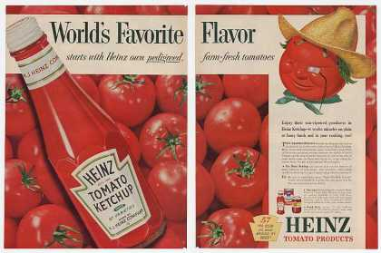 Heinz Ketchup Tomato Head Guy Favorite (1956)