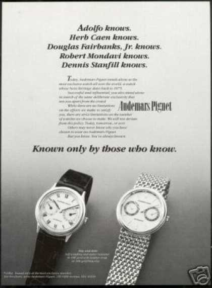 Audemars Piguet 2 Watch Photo Vintage (1984)