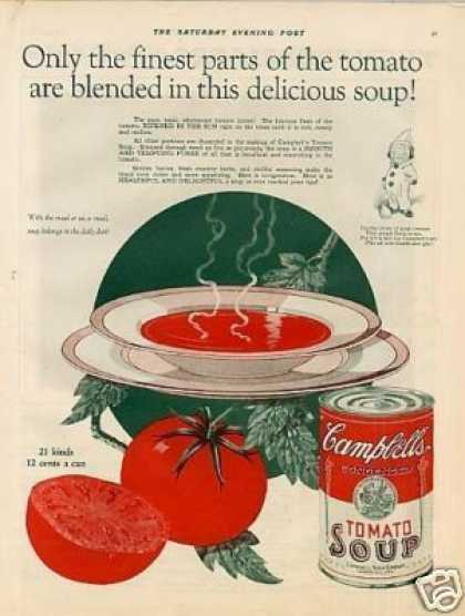 "Campbell's Tomato Soup Color Ad ""Only the Finest.. (1926)"