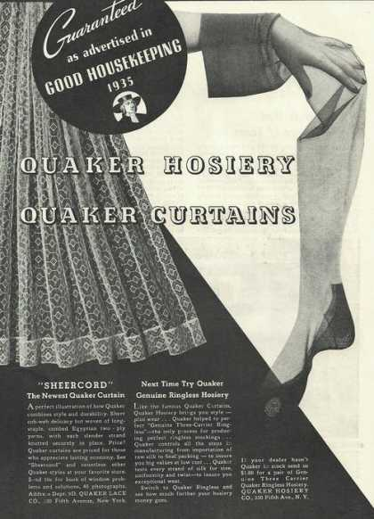 Quaker Womens Hosiery and Curtains (1935)