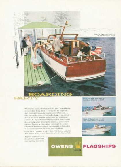 Owens Flagship Bridge Express Cruiser Boat (1958)
