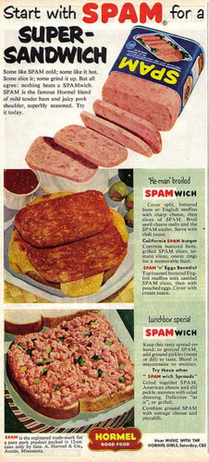 Vintage Spam Advertisements Of The 1950s