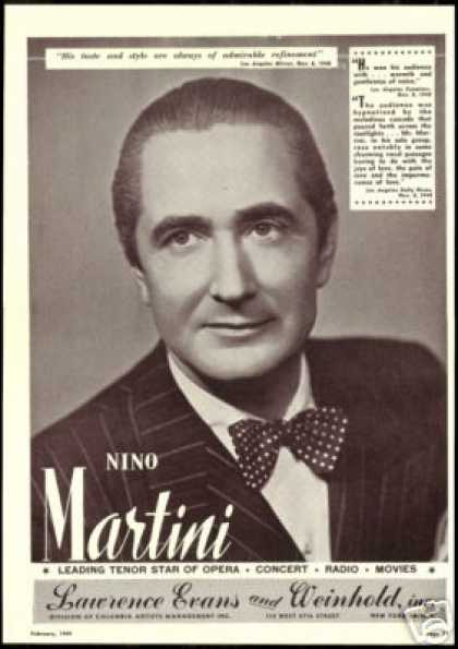 Nino Martini Photo Reviews Booking Vintage (1949)
