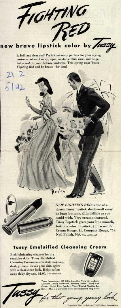 Lehn & Fink Products Corp.'s Tussy Cosmetics – Fighting Red (1942)