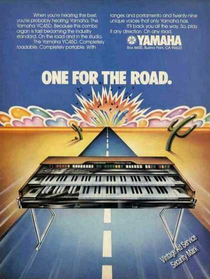 Yamaha Yc45d Keyboard Art Graphics (1975)