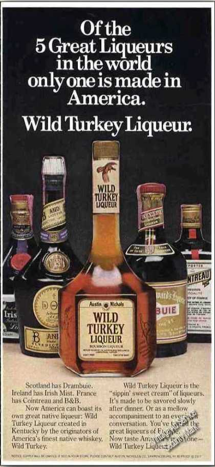 "Wild Turkey Liqueur ""One of the 5 Great"" (1978)"