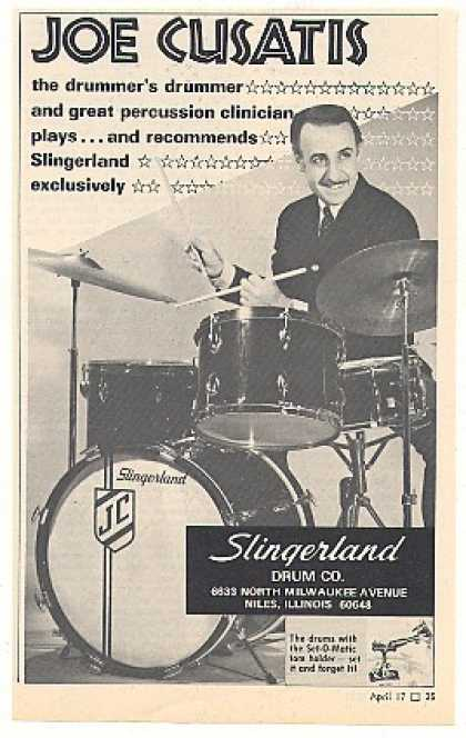 Joe Cusatis Slingerland Drums Photo (1969)