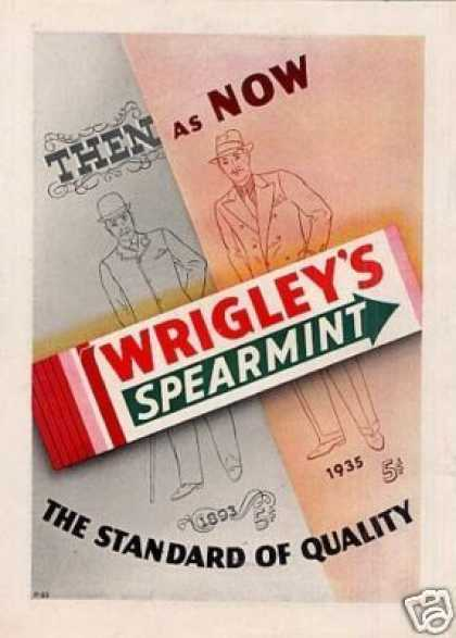 Wrigley's Spearmint Chewing Gum Color (1935)
