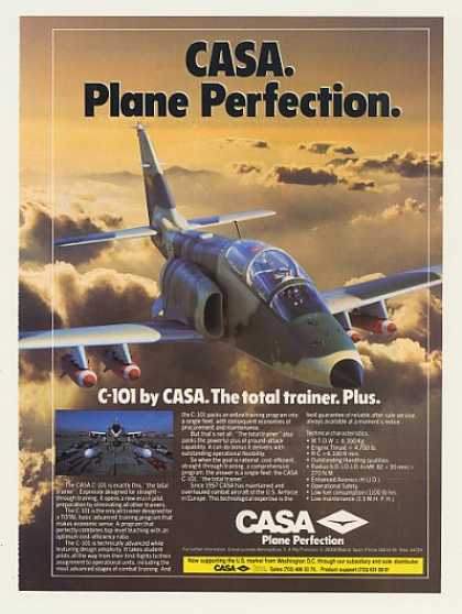 Casa C-101 Jet Trainer Aircraft Photo (1985)