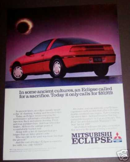 Mitsubishi Eclipse Red Car Photo (1990)