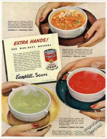 Campbell's Vegetable, Tomato & Green Pea Soup (1944)