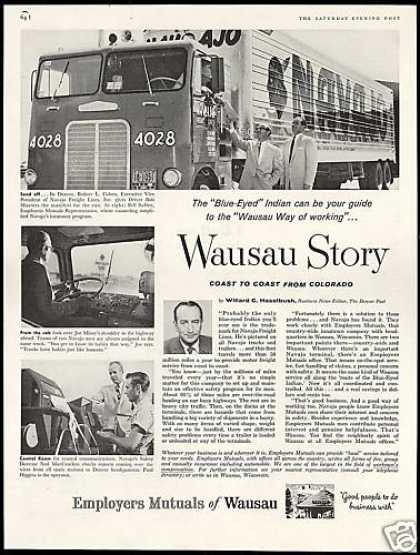 Navajo Freight Lines Truck Wausau Mutual (1958)