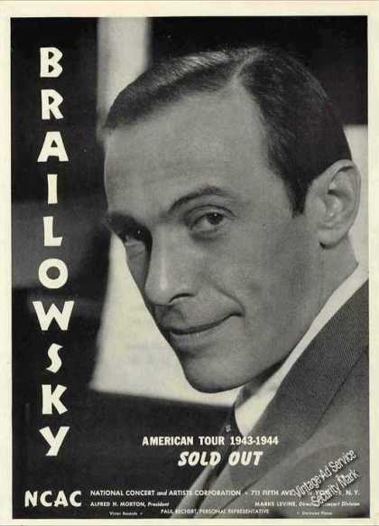 Alexander Brailowsky Photo Pianist Nice Trade (1944)