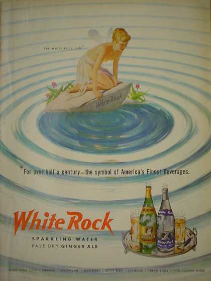 White Rock Sparkling Water Ginger Ale Fairy theme 2nd of 2 (1950)
