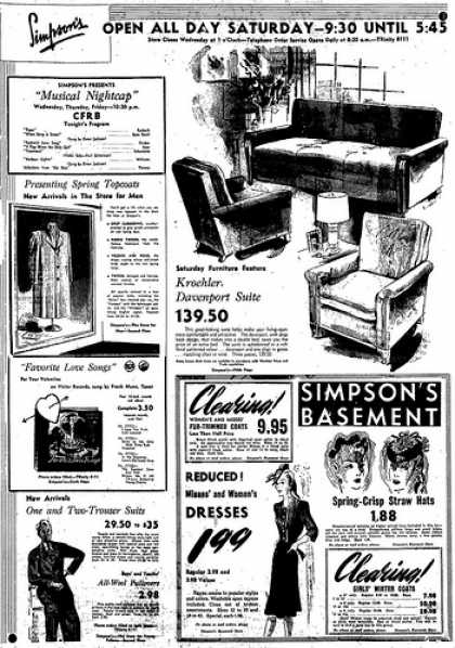 Vintage Furniture Ads Of The 1940s