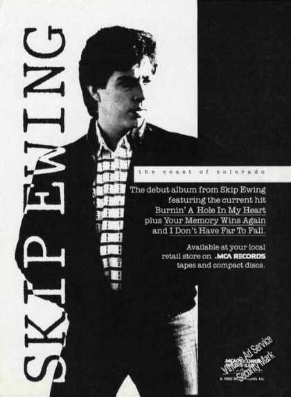 Skip Ewing Photo Debut Album Promo (1988)