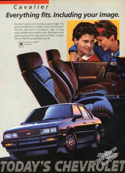 Chevrolet Cavalier Chevy Car Advertising (1985)