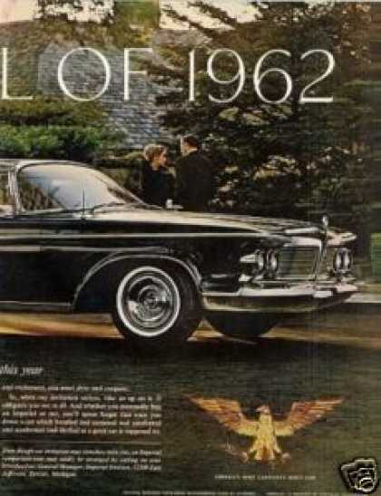 Chrysler Imperial Car Ad 2 Page (1962)