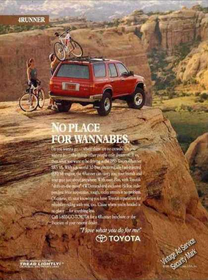 "Toyota 4runner ""No Place for Wannabes"" (1993)"