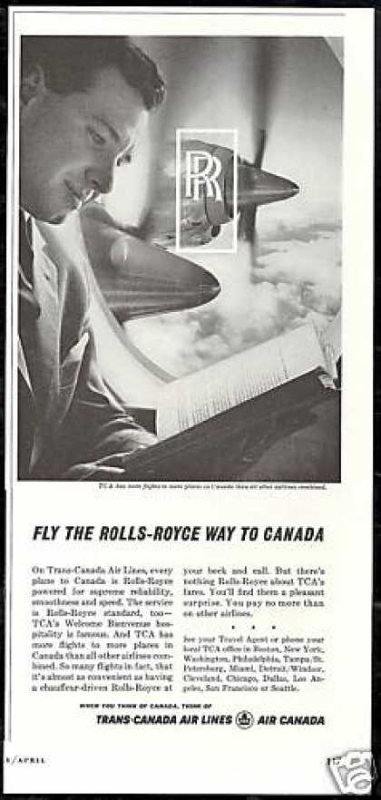 TCA Trans Canada Airlines Rolls-Royce Engine (1962)