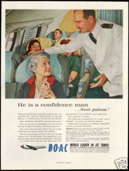 BOAC B O A C Airlines Steward Photo Vintage (1959)