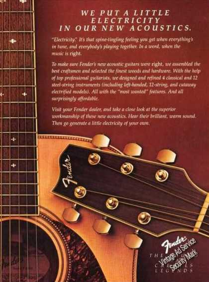 Fender Electric In Acoustic Music Promo (1983)