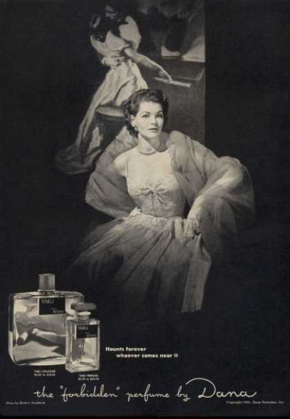 Dana Tabu Perfume Bottle (1951)