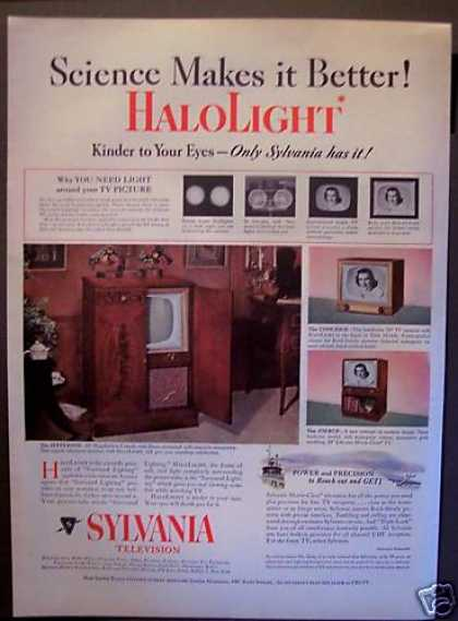 Halolight Sylvania Tv Television Set (1952)