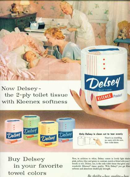 Delsey Toilet Paper In Colors (1955)
