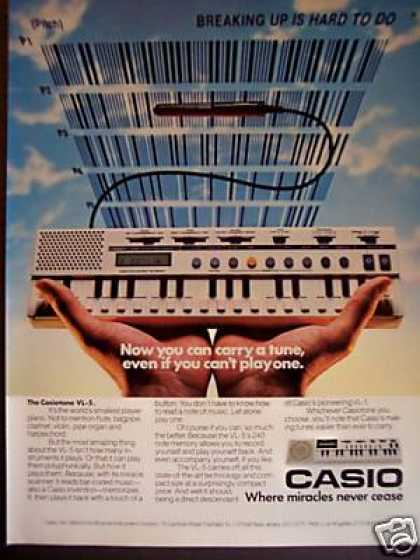 Casio Vl-5 240 Note Memory Music Keyboard (1982)