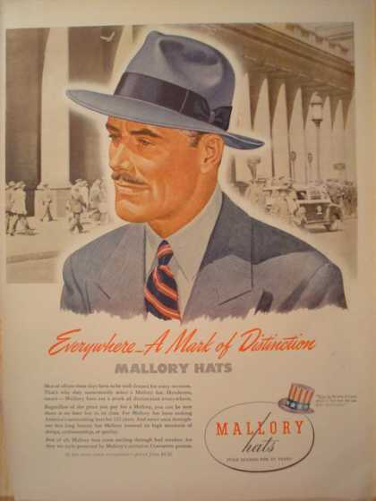Mallory Hats A Mark of Distinction (1945)